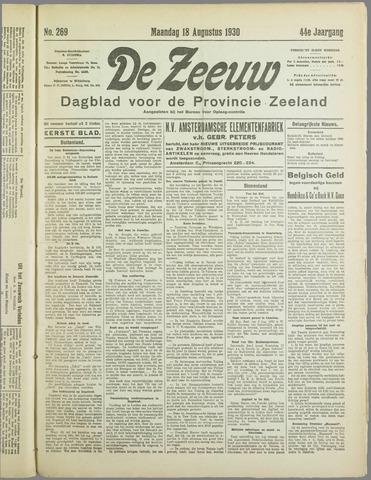 De Zeeuw. Christelijk-historisch nieuwsblad voor Zeeland 1930-08-18