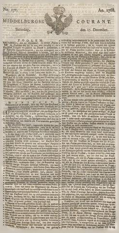 Middelburgsche Courant 1768-12-17
