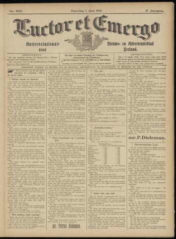 Luctor et Emergo. Antirevolutionair nieuws- en advertentieblad voor Zeeland / Zeeuwsch-Vlaanderen. Orgaan ter verspreiding van de christelijke beginselen in Zeeuwsch-Vlaanderen 1913-06-07