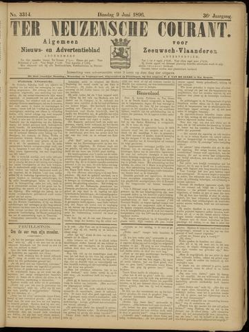 Ter Neuzensche Courant. Algemeen Nieuws- en Advertentieblad voor Zeeuwsch-Vlaanderen / Neuzensche Courant ... (idem) / (Algemeen) nieuws en advertentieblad voor Zeeuwsch-Vlaanderen 1896-06-09