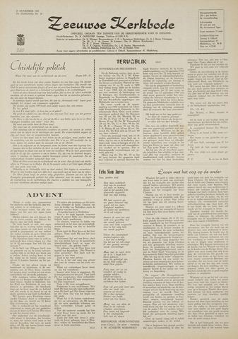 Zeeuwsche kerkbode, weekblad gewijd aan de belangen der gereformeerde kerken/ Zeeuwsch kerkblad 1969-11-27