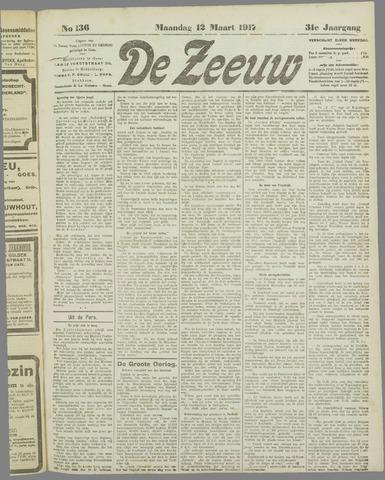 De Zeeuw. Christelijk-historisch nieuwsblad voor Zeeland 1917-03-12