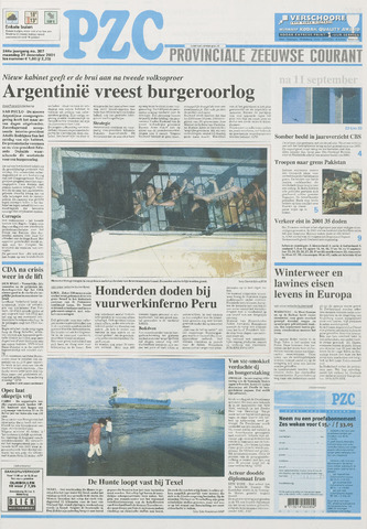 Provinciale Zeeuwse Courant 2001-12-31