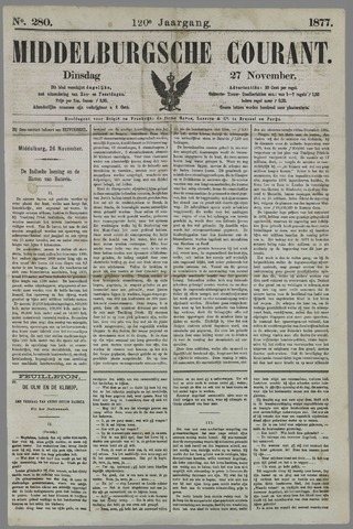 Middelburgsche Courant 1877-11-27
