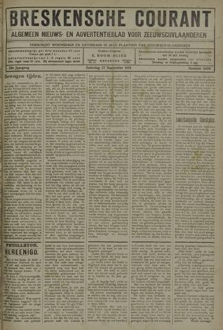 Breskensche Courant 1919-09-27