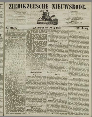 Zierikzeesche Nieuwsbode 1867-07-27