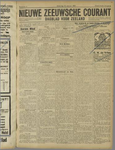 Nieuwe Zeeuwsche Courant 1921-01-15