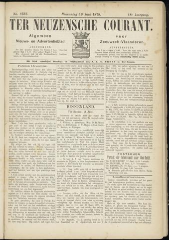 Ter Neuzensche Courant. Algemeen Nieuws- en Advertentieblad voor Zeeuwsch-Vlaanderen / Neuzensche Courant ... (idem) / (Algemeen) nieuws en advertentieblad voor Zeeuwsch-Vlaanderen 1878-06-19