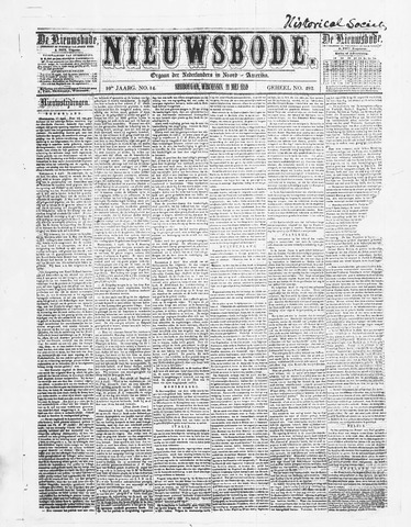 Sheboygan Nieuwsbode 1859-05-11
