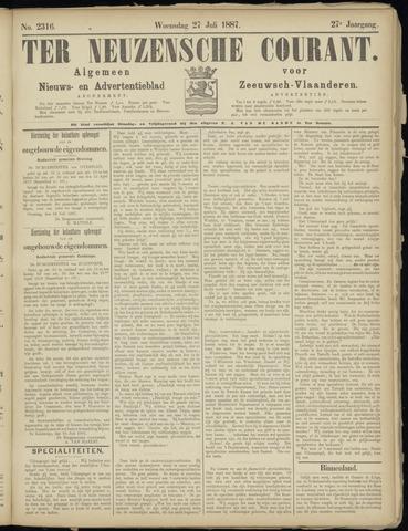 Ter Neuzensche Courant. Algemeen Nieuws- en Advertentieblad voor Zeeuwsch-Vlaanderen / Neuzensche Courant ... (idem) / (Algemeen) nieuws en advertentieblad voor Zeeuwsch-Vlaanderen 1887-07-27
