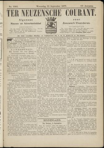 Ter Neuzensche Courant. Algemeen Nieuws- en Advertentieblad voor Zeeuwsch-Vlaanderen / Neuzensche Courant ... (idem) / (Algemeen) nieuws en advertentieblad voor Zeeuwsch-Vlaanderen 1877-09-12