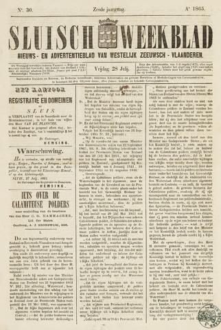 Sluisch Weekblad. Nieuws- en advertentieblad voor Westelijk Zeeuwsch-Vlaanderen 1865-07-28