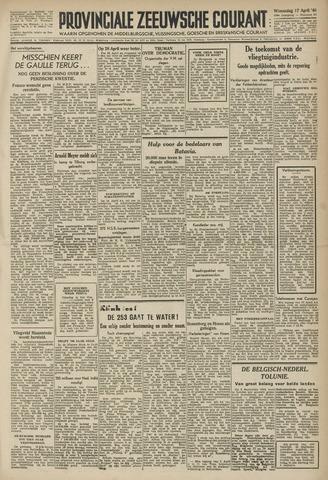 Provinciale Zeeuwse Courant 1946-04-17