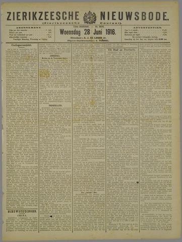 Zierikzeesche Nieuwsbode 1916-06-28
