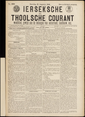 Ierseksche en Thoolsche Courant 1916-08-12