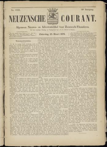 Ter Neuzensche Courant. Algemeen Nieuws- en Advertentieblad voor Zeeuwsch-Vlaanderen / Neuzensche Courant ... (idem) / (Algemeen) nieuws en advertentieblad voor Zeeuwsch-Vlaanderen 1876-03-25