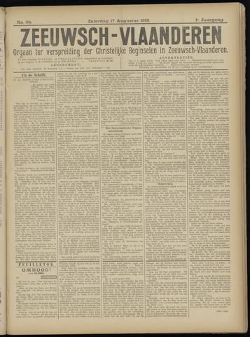 Luctor et Emergo. Antirevolutionair nieuws- en advertentieblad voor Zeeland / Zeeuwsch-Vlaanderen. Orgaan ter verspreiding van de christelijke beginselen in Zeeuwsch-Vlaanderen 1918-08-17