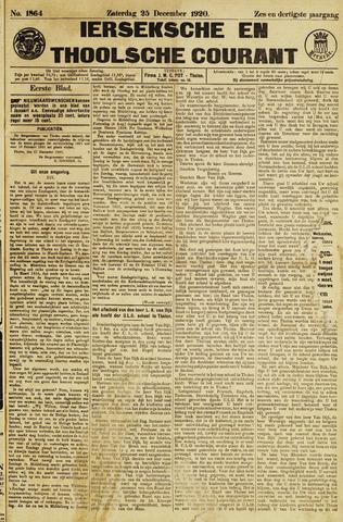 Ierseksche en Thoolsche Courant 1920-12-25