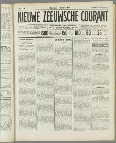 Nieuwe Zeeuwsche Courant 1916-03-07