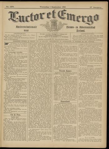 Luctor et Emergo. Antirevolutionair nieuws- en advertentieblad voor Zeeland / Zeeuwsch-Vlaanderen. Orgaan ter verspreiding van de christelijke beginselen in Zeeuwsch-Vlaanderen 1915-09-01