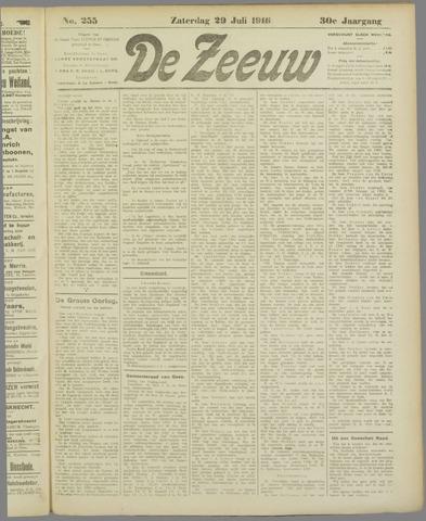 De Zeeuw. Christelijk-historisch nieuwsblad voor Zeeland 1916-07-29