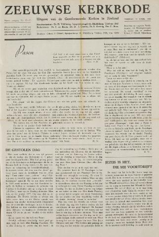 Zeeuwsche kerkbode, weekblad gewijd aan de belangen der gereformeerde kerken/ Zeeuwsch kerkblad 1949-04-15