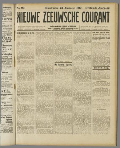 Nieuwe Zeeuwsche Courant 1917-08-23