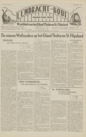 Eendrachtbode (1945-heden)/Mededeelingenblad voor het eiland Tholen (1944/45) 1949-09-09