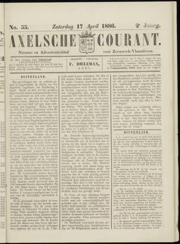 Axelsche Courant 1886-04-17
