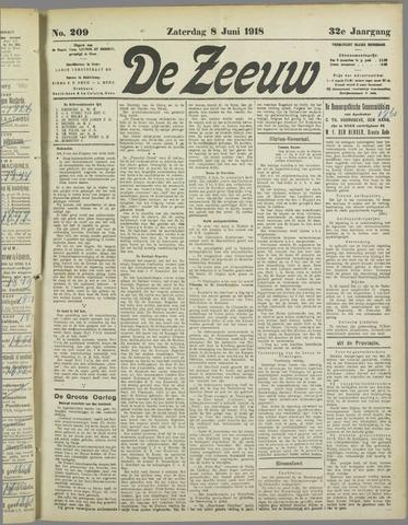 De Zeeuw. Christelijk-historisch nieuwsblad voor Zeeland 1918-06-08