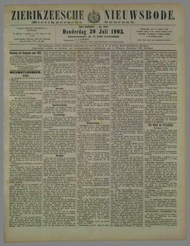 Zierikzeesche Nieuwsbode 1903-07-30