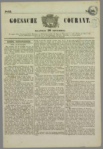 Goessche Courant 1852-11-29