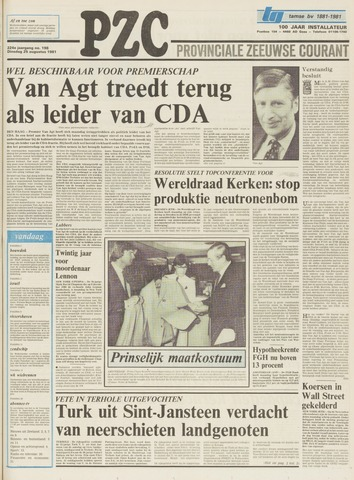 Provinciale Zeeuwse Courant 1981-08-25