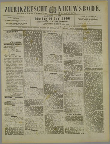 Zierikzeesche Nieuwsbode 1906-06-19