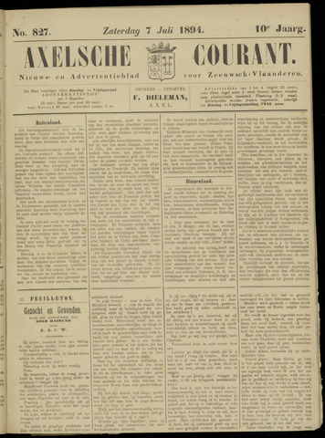 Axelsche Courant 1894-07-07