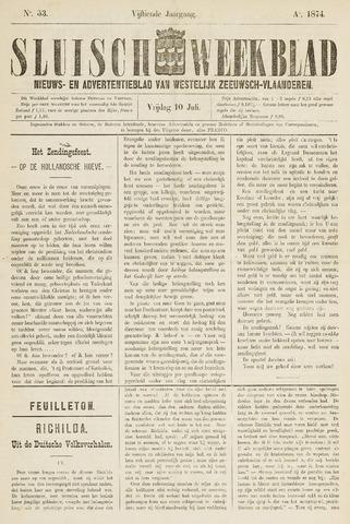 Sluisch Weekblad. Nieuws- en advertentieblad voor Westelijk Zeeuwsch-Vlaanderen 1874-07-10