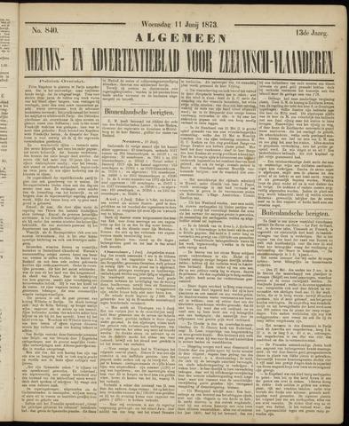 Ter Neuzensche Courant. Algemeen Nieuws- en Advertentieblad voor Zeeuwsch-Vlaanderen / Neuzensche Courant ... (idem) / (Algemeen) nieuws en advertentieblad voor Zeeuwsch-Vlaanderen 1873-06-11