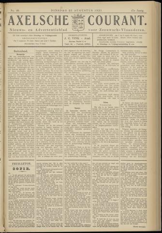 Axelsche Courant 1931-08-25