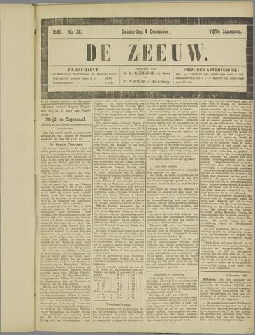 De Zeeuw. Christelijk-historisch nieuwsblad voor Zeeland 1890-12-04