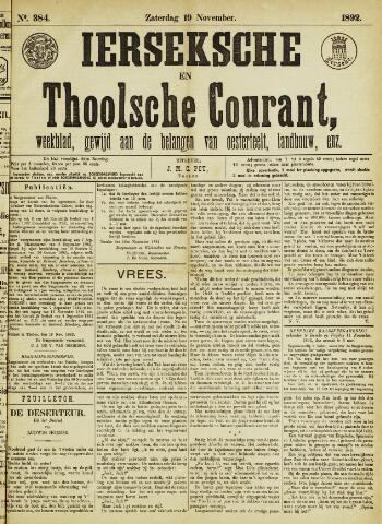 Ierseksche en Thoolsche Courant 1892-11-19