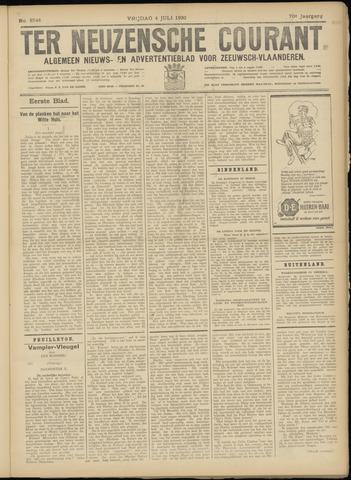 Ter Neuzensche Courant. Algemeen Nieuws- en Advertentieblad voor Zeeuwsch-Vlaanderen / Neuzensche Courant ... (idem) / (Algemeen) nieuws en advertentieblad voor Zeeuwsch-Vlaanderen 1930-07-04