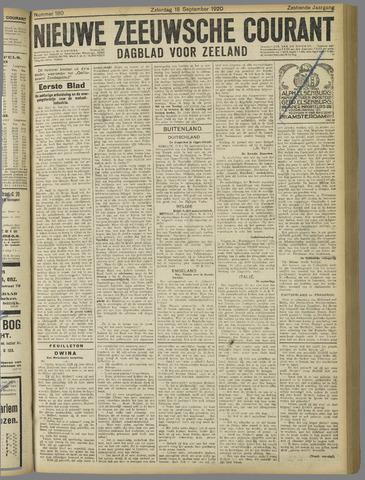 Nieuwe Zeeuwsche Courant 1920-09-18