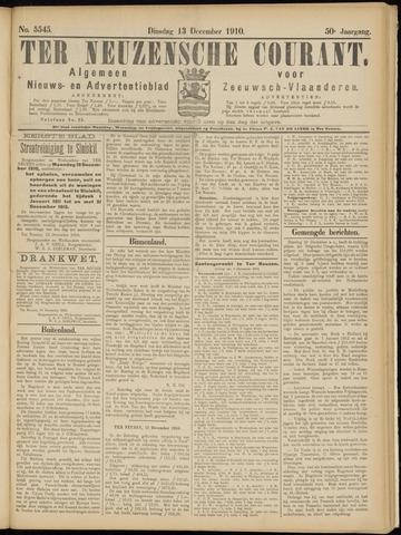 Ter Neuzensche Courant. Algemeen Nieuws- en Advertentieblad voor Zeeuwsch-Vlaanderen / Neuzensche Courant ... (idem) / (Algemeen) nieuws en advertentieblad voor Zeeuwsch-Vlaanderen 1910-12-13