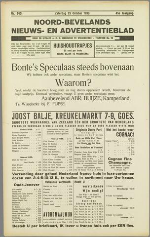 Noord-Bevelands Nieuws- en advertentieblad 1938-10-29