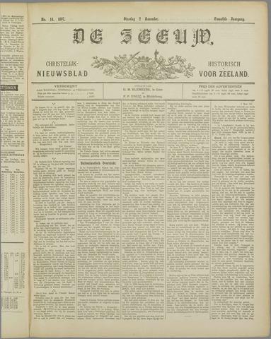 De Zeeuw. Christelijk-historisch nieuwsblad voor Zeeland 1897-11-02