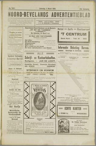 Noord-Bevelands Nieuws- en advertentieblad 1928-03-03