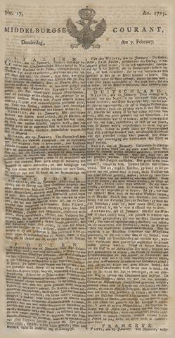 Middelburgsche Courant 1775-02-09