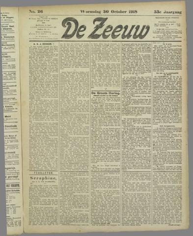De Zeeuw. Christelijk-historisch nieuwsblad voor Zeeland 1918-10-30