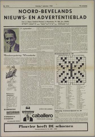 Noord-Bevelands Nieuws- en advertentieblad 1968-09-07