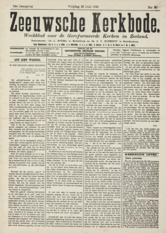 Zeeuwsche kerkbode, weekblad gewijd aan de belangen der gereformeerde kerken/ Zeeuwsch kerkblad 1920-07-23